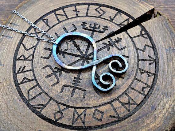 Authentic amulet Viking Pendant Viking necklace Trollkors Trollcross necklace Handmade Nordic Protection Amulet Troll Cross