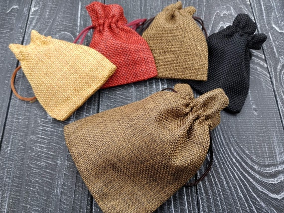 "Wedding Favor Burlap Bags Gift Pouch Drawstring Jewelry 4/""x5/"" 5 Pieces"