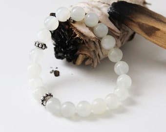 Moonstone bracelet for intuition, creativity and more balance - charged with Reiki energy