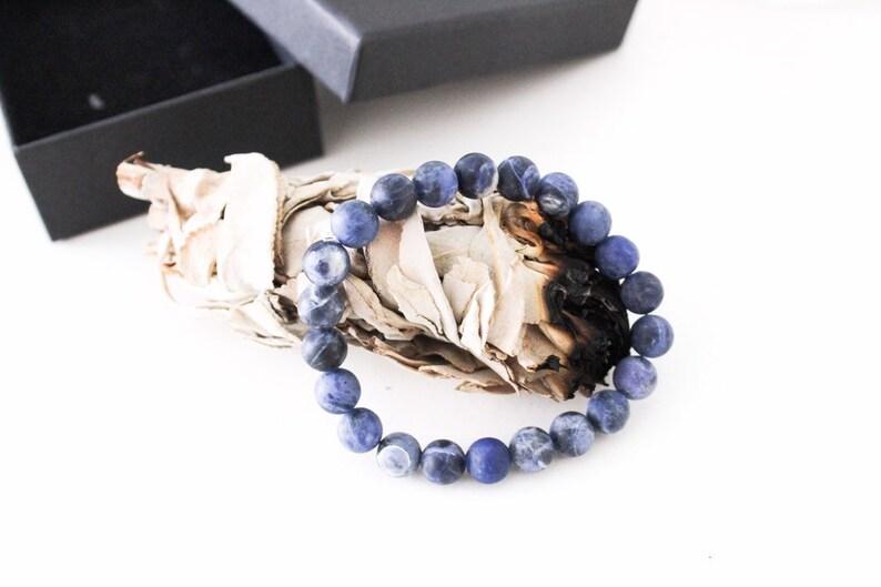 Mala Sodalite bracelet blue / men boys women girls / gift image 0