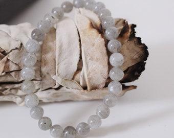 More creativity and self-confidence - Labradorite Mala bracelet with Reiki Energy