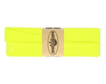 Jersey Schrägband 3,0m lang und 2,0cm breit - Einfassband Oaki Doki Farbe: 954 - NEON GELB für 3,00 euro/stück