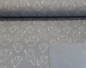 Softshell - Elephant - metered 13,00 euro/meter