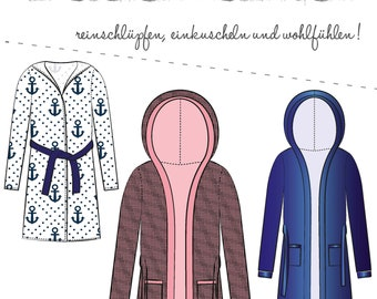 Women's Bathrobe - Cuddly - Sewing Pattern and Sewing Instructions