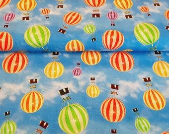 Jersey - Heißluftballon - Baumwolljersey Stoff Meterware 6,00 euro/meter