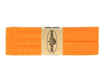 Jersey Schrägband 3,0m lang und 2,0cm breit - Einfassband Oaki Doki Farbe: 952 - NEON ORANGE für 3,00 euro/stück