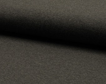 Jerseystoff - Jersey - Baumwolljersey Meterware 9,00 euro/meter - RS0179-168 DARK GREY MELANGE