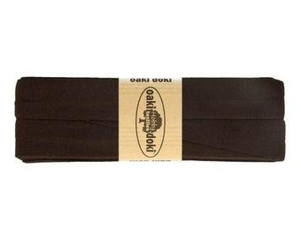 Jersey Schrägband 3,0m lang und 2,0cm breit - Einfassband Oaki Doki Farbe: 501 - BRAUN für 3,00 euro/stück