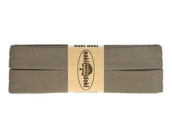 Jersey Schrägband 3,0m lang und 2,0cm breit - Einfassband Oaki Doki Farbe: 543 - BRAUN für 3,00 euro/stück