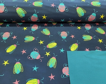 Softshell - Colorful Beetles - By the metre 13,00 euro/meter