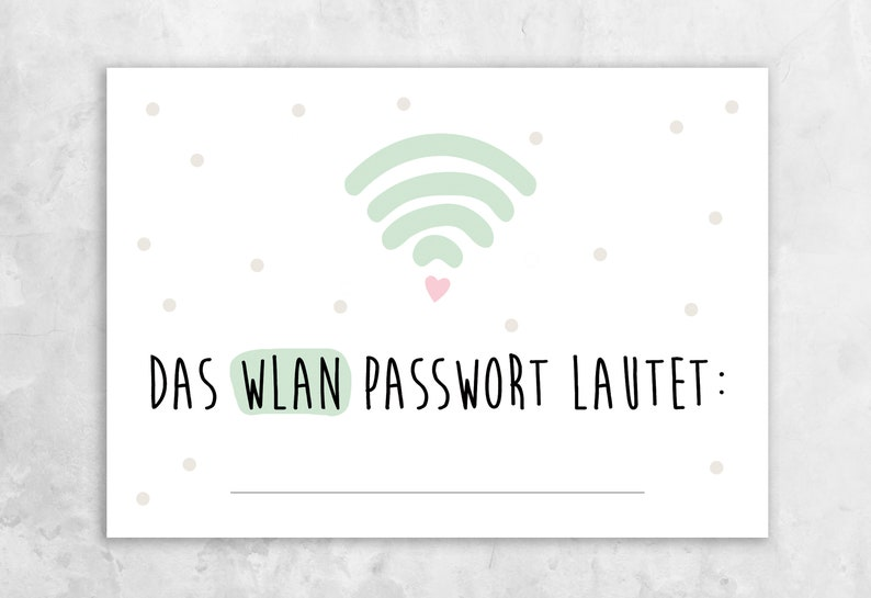 Postcard  Wi-Fi Password image 0