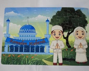 Ramadan children games Islamic gifts Ramadan toys Muslim Kids gift Eid gift رمضان Islamic Puzzles Islamic teachings Ramadan puzzle Eid Puzzle Islamic toys