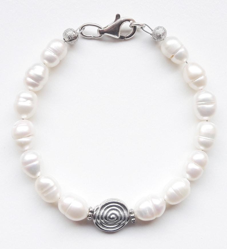 Gemstone Bracelet Bracelet Bracelet Freshwater Breeding Beads image 0
