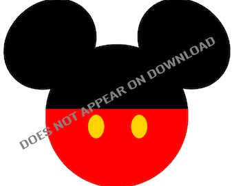 Mickey Mouse decorated mouse ears silhouette - for t-shirt printing