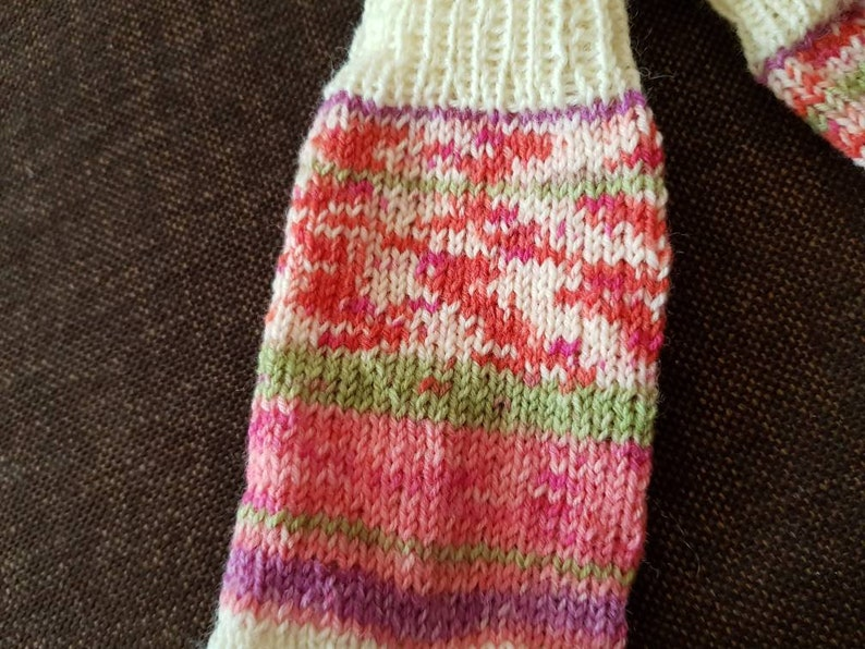 37 38 thick white pink purple green striped colorful knitted knit socks socks women hand knitted
