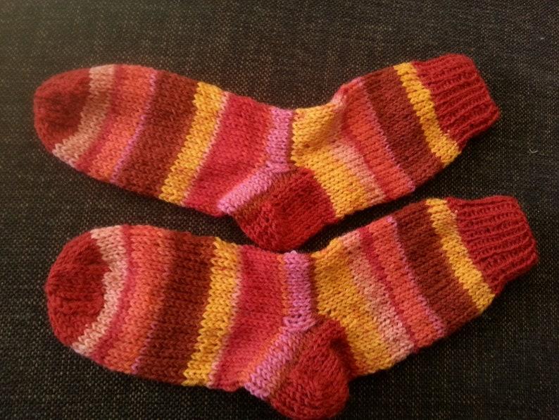 25 26 red pink orange striped children/'s socks socks