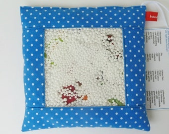 Search pillow 40 parts blue with dots, flannel