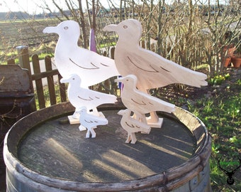solid oak natural or white 3 sizes Seagull