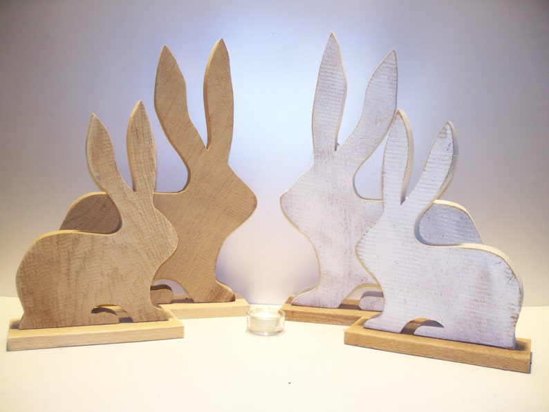 Rabbit solid oak 2 sizes natural or white