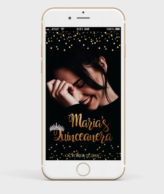 quinceanera snapchat filter quinceanera snapchat geofilter | etsy