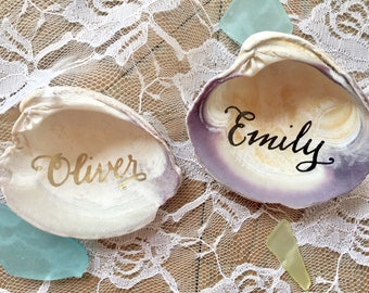 Shell Wedding Place Card
