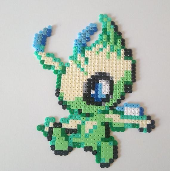 Celebi Legendary Pokemon Perler Beads Pixel Art