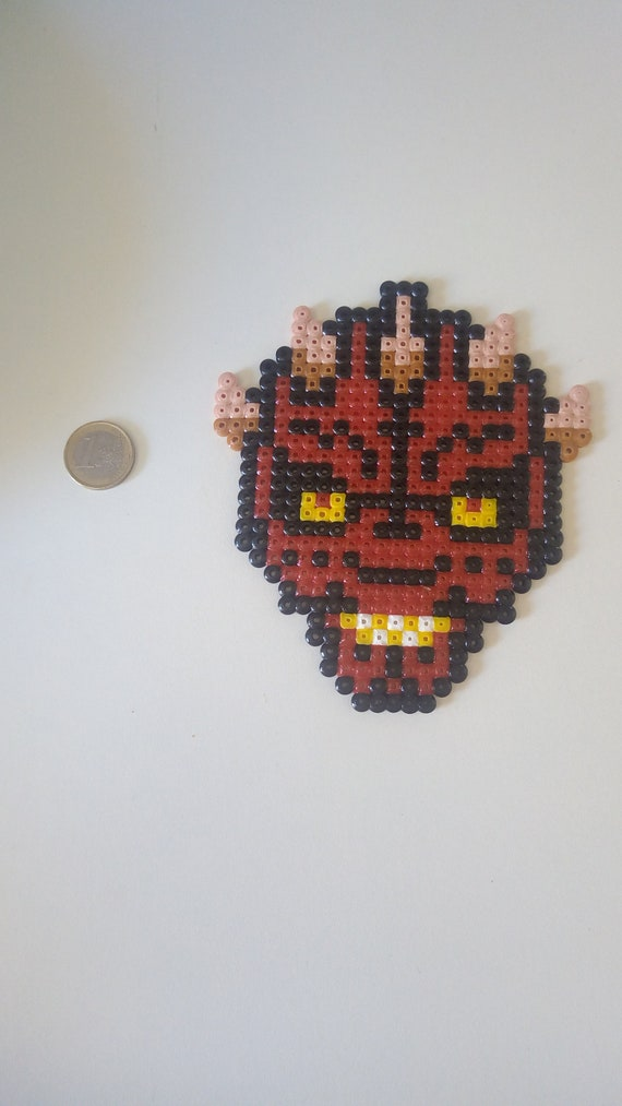 Darth Maul Portrait Star Wars Perler Beads Pixel Art