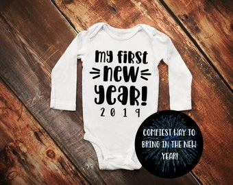 04820d5dd Personalized Baby's First New Year Baby Bodysuit 2019