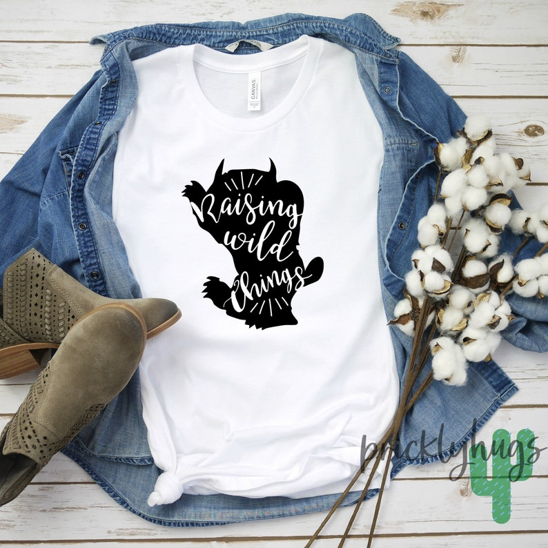 Wild Things First Birthday Shirt for Mom  Personalized First Birthday Shirt  Wild One Shirt