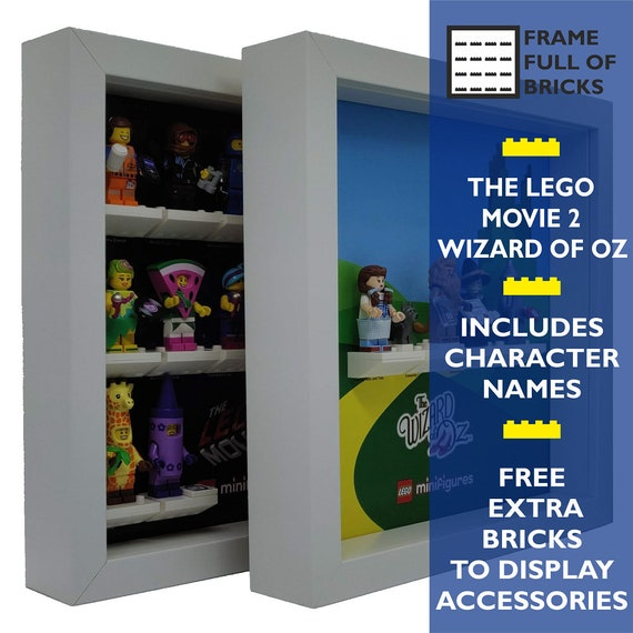 Frame LEGO Minifigures Display Case The LEGO Movie 2 and The Wizard of Oz
