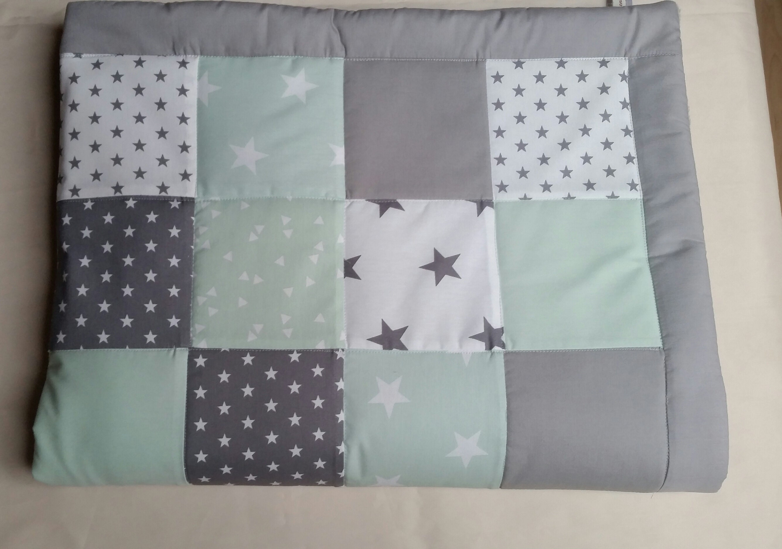 Baby patchworkdecke   Etsy