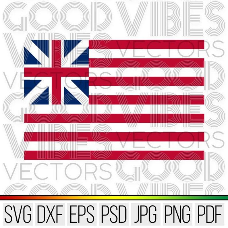 1776 American Flag Svg Historical Flag Svg Vector Cut File Etsy
