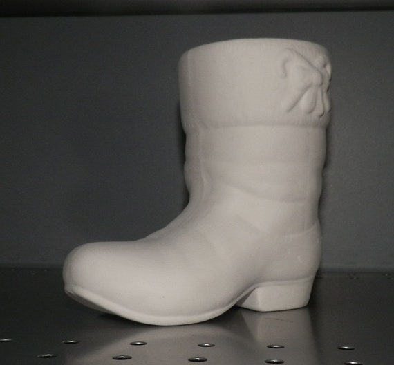 Christmas Santa Boot  *Ceramic Bisque Ready to Paint