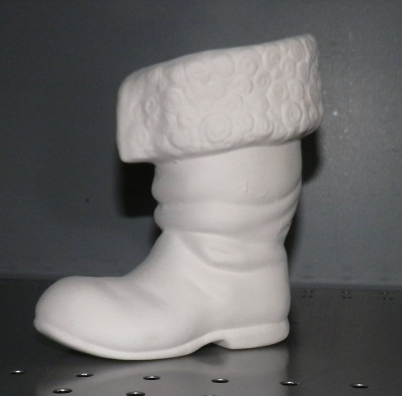 Santa Claus Boot Christmas Decorations *Ceramic Bisque Ready to Paint