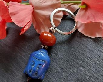 Buddha Keychain with Carneol