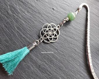 Bookmark, Flower of Life, Aventurine