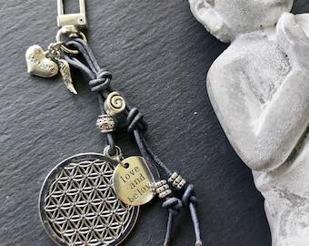 Bag pendant / keychain Flower of Life