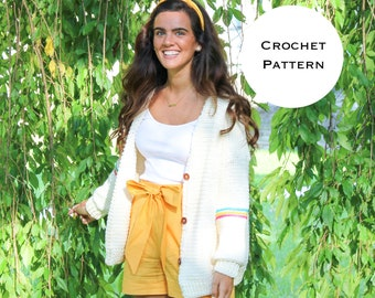 Happy Stripes Cardigan || Crochet Pattern