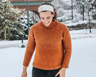 Snow Day Sweater || Crochet Pattern