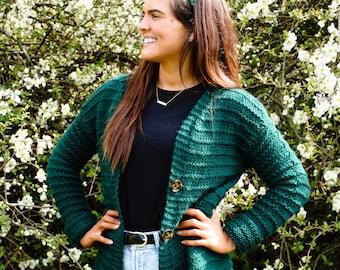 Spring Blooms Cardigan || Knit Pattern