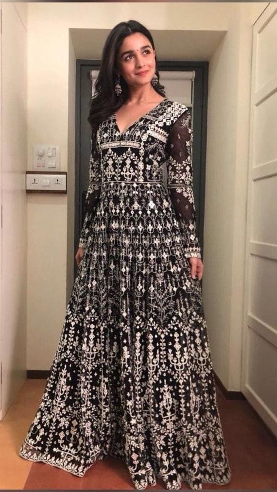 a20da78587 Indian designer Anarkali salwar kameez lehenga choli indian | Etsy