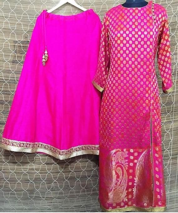 Indian Anarkali suit kurti lehenga banarasi lehenga choli salwar suit  kameez designer lengha heavy party wear banarasi suit lehenga choli