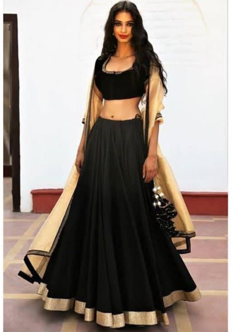 f50c8310221 Indian black lehenga indian lehenga choli maxi dress gown