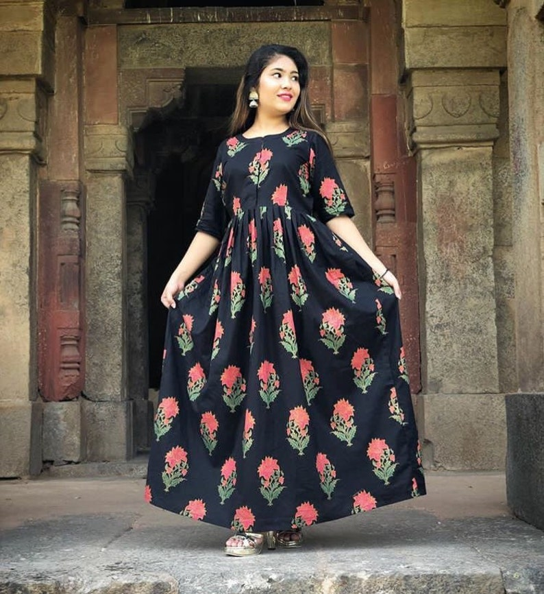 158108aeb4 Indian Designer block printed cotton dress crop top   lehenga