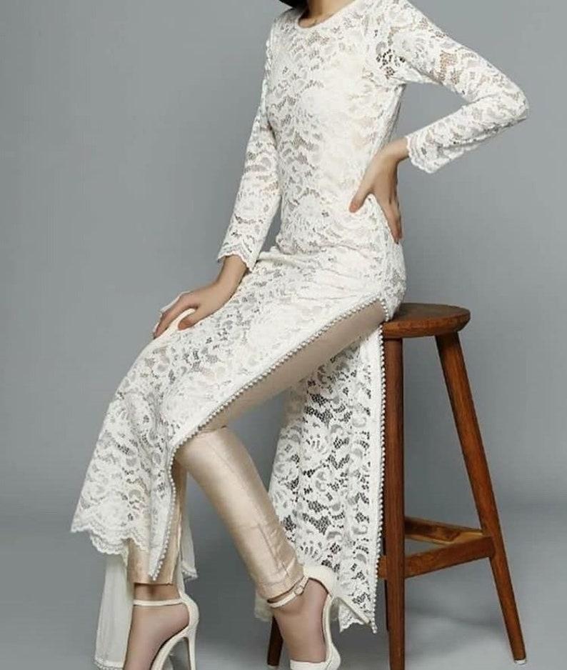Indian designer white suit bollywood white lehenga designer white lengha  white kurti set