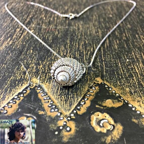 Silver Seashell Necklace by She Shells § Seashell