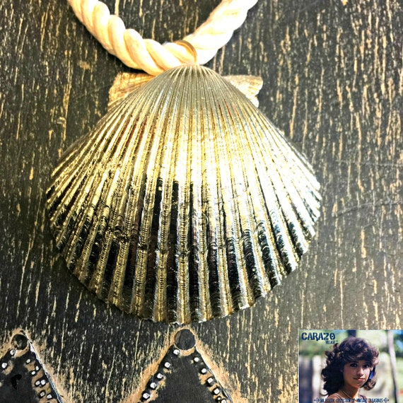 Gold Scallop Seashell Necklace by She Shells, Seas