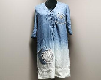Upcycled Lightweight Denim Dress - XSmall