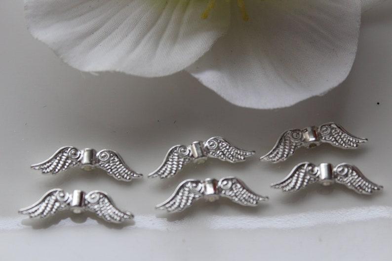 100 angel wings 24 mm angel wings Silver Light Tinker