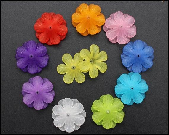 14 mm 20 Blüten in türkis gefrostet